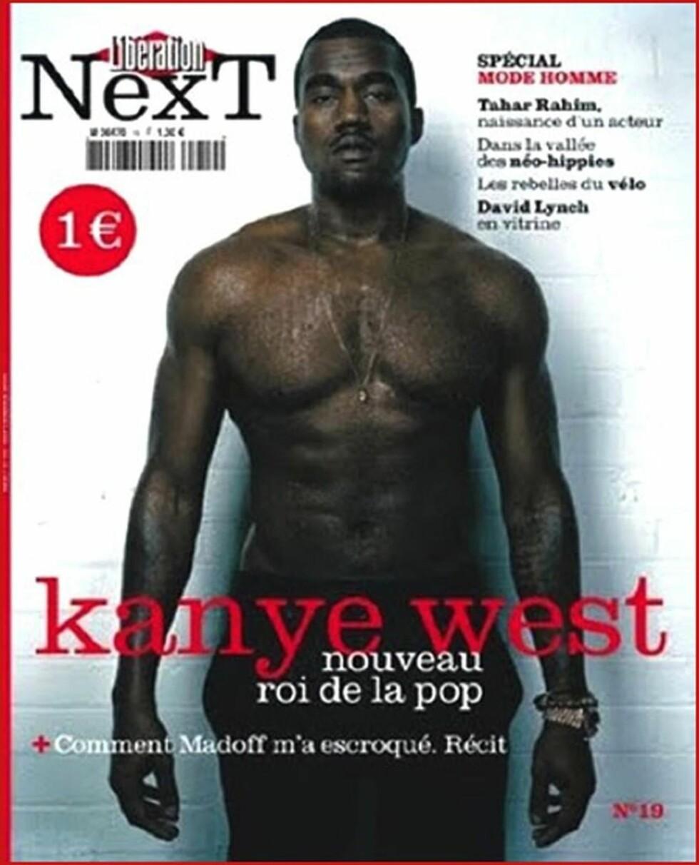 <strong>FORSIDEHUNK:</strong> Kanye West (34) fikk være forsidehunk på en utgave av «Liberation Next magazine» i 2009. Foto: Stella Pictures