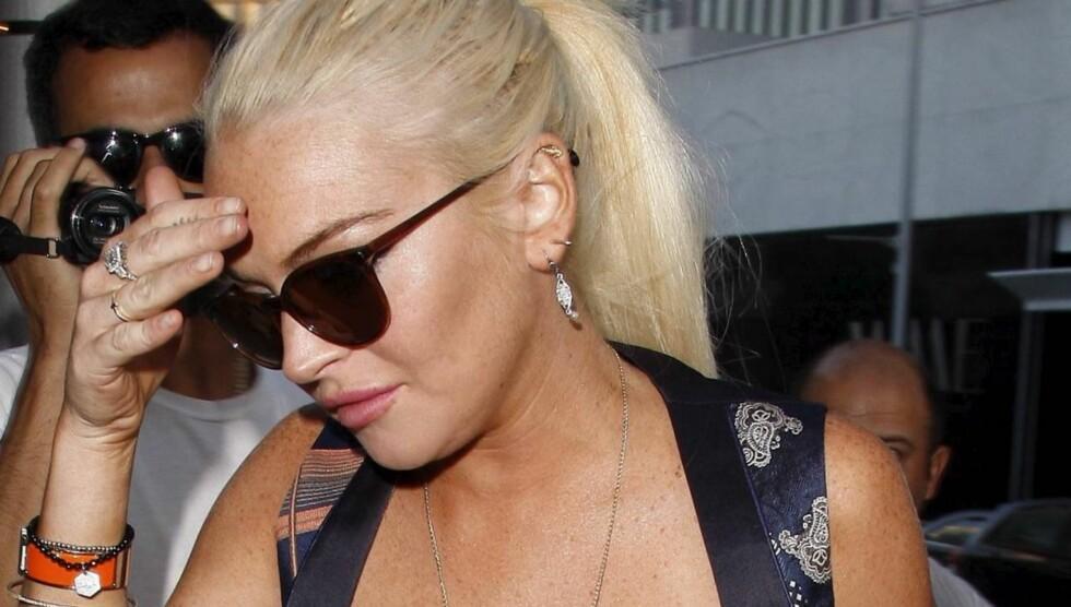 AVSLØRT: Skuespilleren Lindsay Lohan hadde opprinnelig tenkt å avsløre sin Playboyforside på TV 15. desember, men når det som skal være forsiden blitt lekket på nettet. Foto: All Over Press