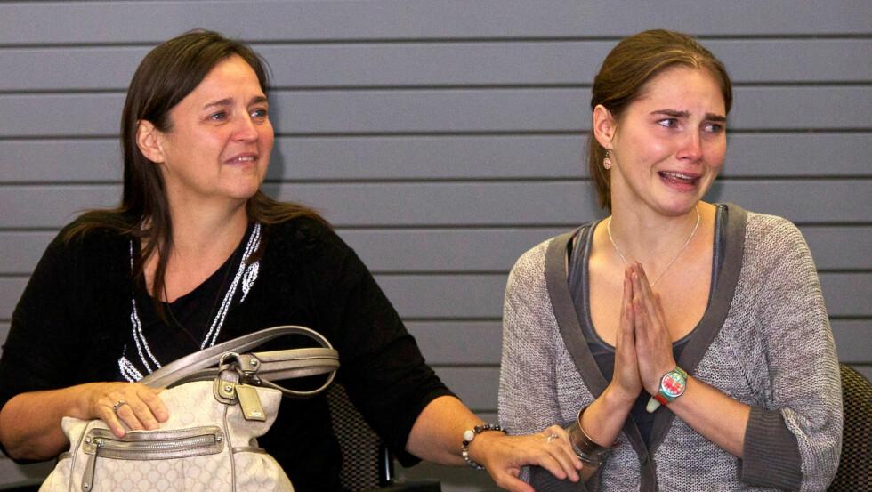 <strong>KAN HÅVE INN MILLIONER:</strong> Amanda Knox skal ha signert en bokavtale. Foto: All Over Press