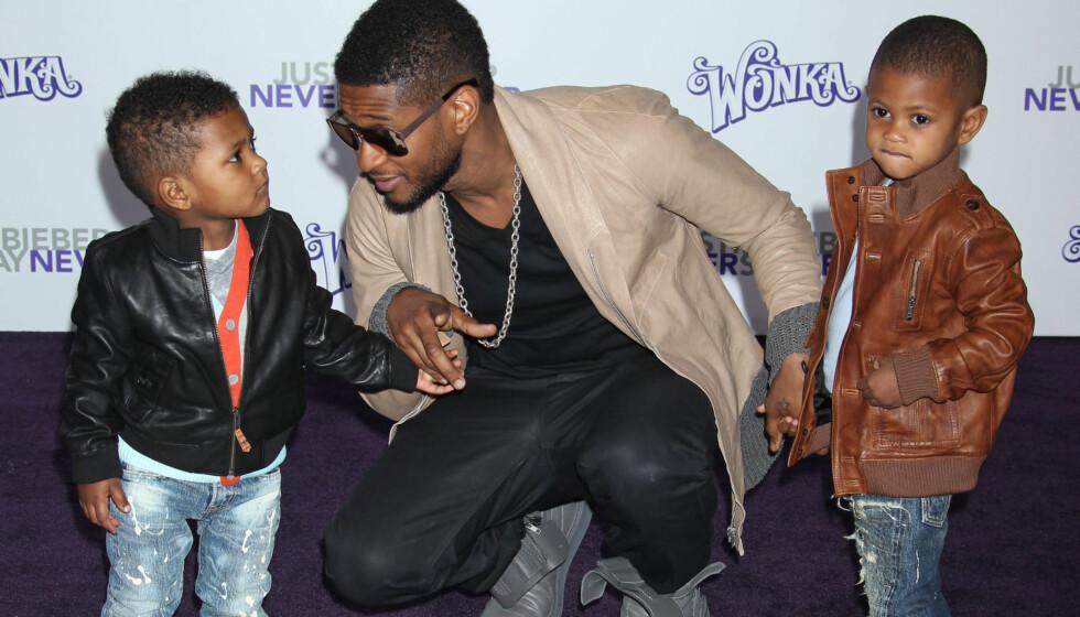 <strong>KAN MISTE BARNA:</strong> Ushers eks-kone ønsker ikke at sangstjernen skal ha kontakt med de to sønnene Usher og Naviyd.  Foto: All Over Press