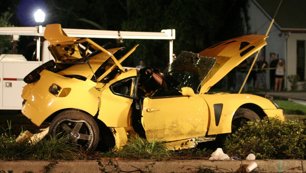 ULYKKESBILEN: I 2007 var Nick Hogans kamerat nær døden da realitystjernen krasjet bilen de satt i. Nå er han saksøkt for råkjøring igjen.  Foto: All Over Press