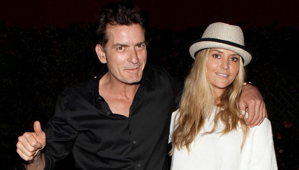 <strong>TOK GREP:</strong> Charlie Sheen betalte lørdag morgen nesten 65.000 norske kroner for å få sin eks-kone, Brooke Mueller, ut av fengsel. Foto: All Over Press