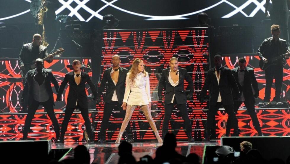 <strong>GRÅTKVALT OPPTREDEN:</strong> Jennifer Lopez' konsert i Connecticut lørdag ble mer følelsesladd enn hun hadde regnet med på forhånd. Foto: All Over Press