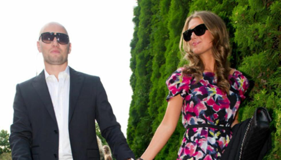 BRONSEPARET: Aksel Hennie (35) og Tone Damli (23) plasserer seg på tredjeplass på Seher.nos liste over de mest innbringende norske kjendisparene - definert som par hvor begge er selvstendige kjendiser. Foto: Stella Pictures