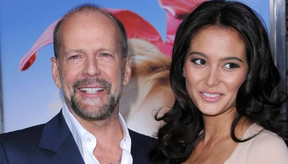 VENTER BARN: Bruce Willis og Emma Heming blir foreldre i 2012. Foto: Stella Pictures