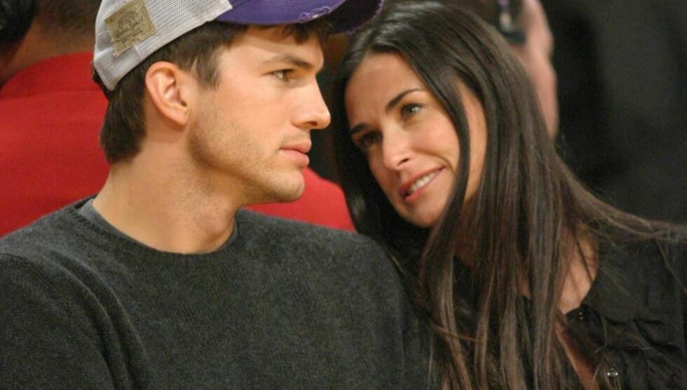 DROPPET GUDSTJENESTE: Sara Leals intervju om sin natt med Ashton Kutcher skal ha blitt for mye for Demi Moore. I helgen droppet hun og ektemannen sin faste Kabbala-gudstjeneste. Foto: All Over Press