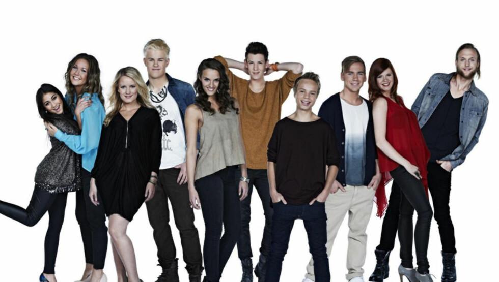ÉN VINNER: Blant denne gjengen finner du vinner av «Idol 2011». Foto: TV 2
