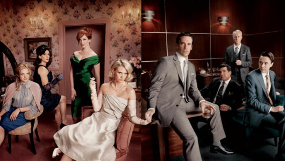 MOR I ARBEID: January Jones spiller rollen som den sexy Betty Draper i den populære TV-serien. Nå er innspillingen for neste sesong i full gang.