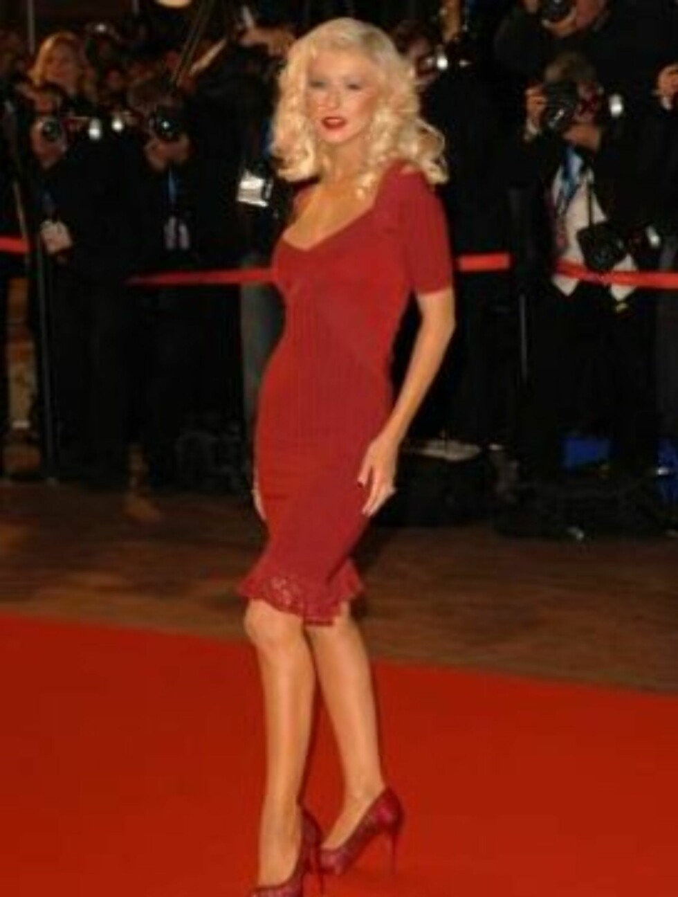 <strong>FØR:</strong> En vesentlig tynnere Christina Aguilera.  Foto: All Over Press