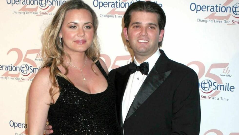 <strong>FORELDRE:</strong> Donald Trump Jr. og kona Vanessa ble nylig foreldre for tredje gang. Foto: All Over Press