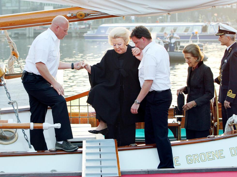 <strong>ÅPNET MUSEUM:</strong> Den nederlandske dronningen åpnet det maritime museet i Amsterdam. Foto: Stella Pictures