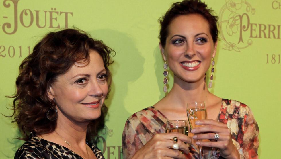 SKJØNNHETER: Eva Amurri tar etter sin berømte mor Susan Sarandon som har gjort flere nakenscener opp igjennom sin lange skuespillerkarriere. Her fra et cocktail party i New York City i sommer. Foto: UPI
