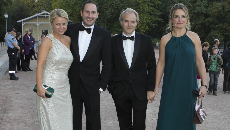 CELEBRE GJESTER: Harald Rønneberg og kona Sølvi Haugland og Harald Zwart og hans kone Veslemøy Zwart gledet seg til å tilbringe kvelden sammen med de kongelige på slottet. Foto: Stella Pictures