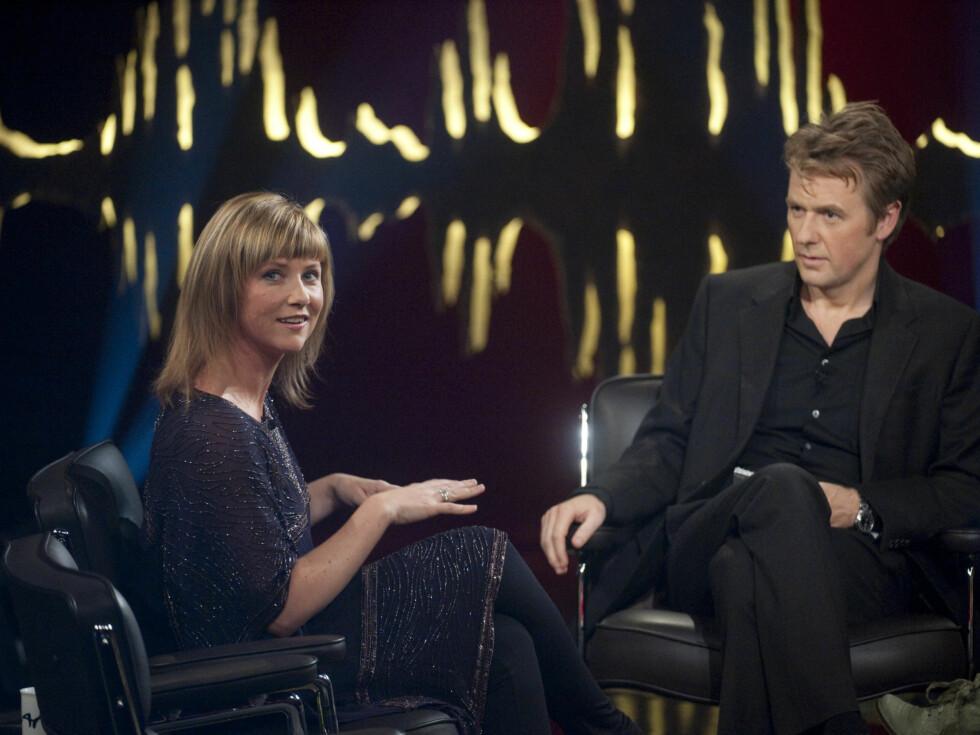 PÅ SKAVLAN: Prinsessen snakker om sine erfaringer med engler på NRK-programmet Skavlan».  Foto: Scanpix