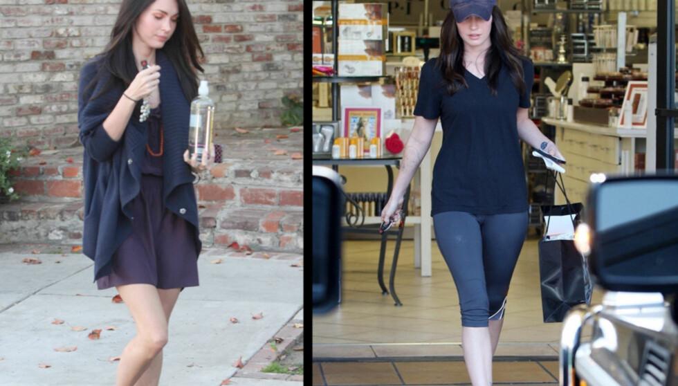 FØR/NÅ: Det er lett å se at Megan Fox har blitt mer formfull etter at hun ga opp å være veganer. Foto: All Over Press / Stella Pictures