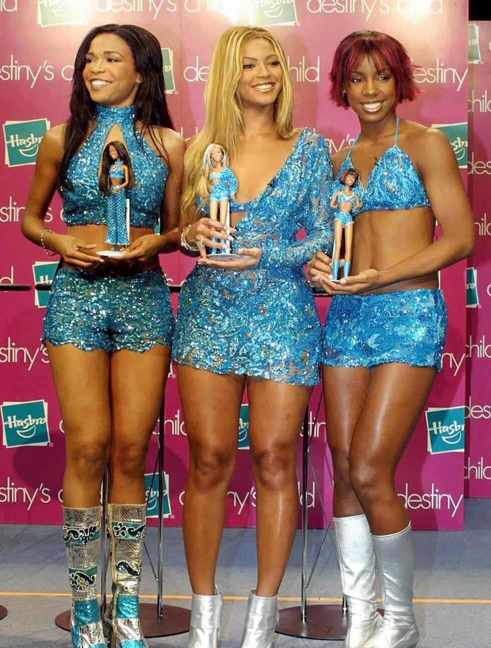 POPULÆRE: I 2001 fikk Destiny's Child til og med sine egne Barbie-dukker! Foto: All Over Press