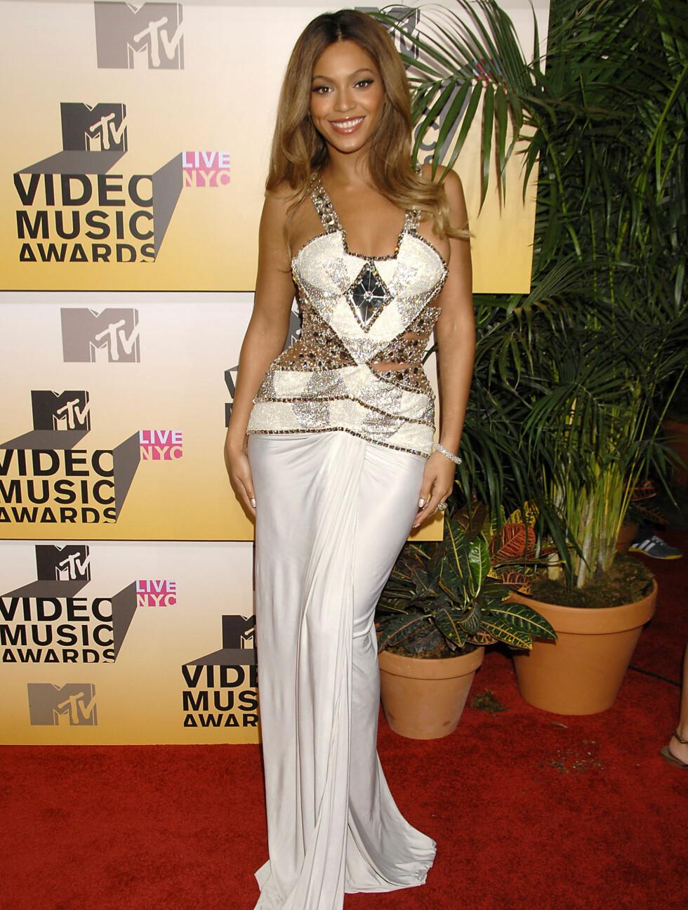 <strong>2006:</strong> Beyoncé var lekker på MTV Video Music Awards på Radio City Music Hall.   Foto: All Over Press