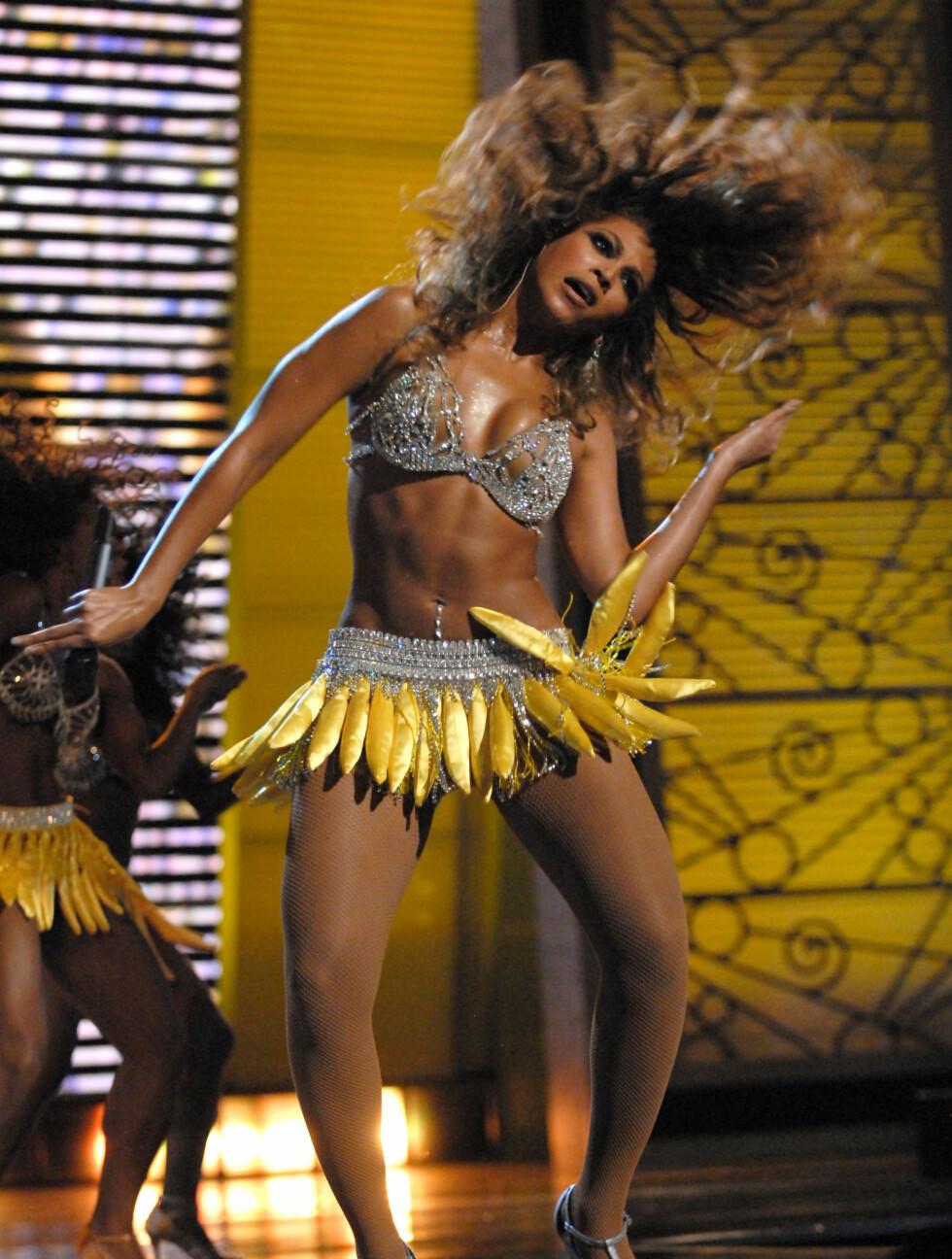 <strong>BANANAS:</strong> Beyoncé åpner New York Fall Fashion Week i september 2006. Foto: All Over Press