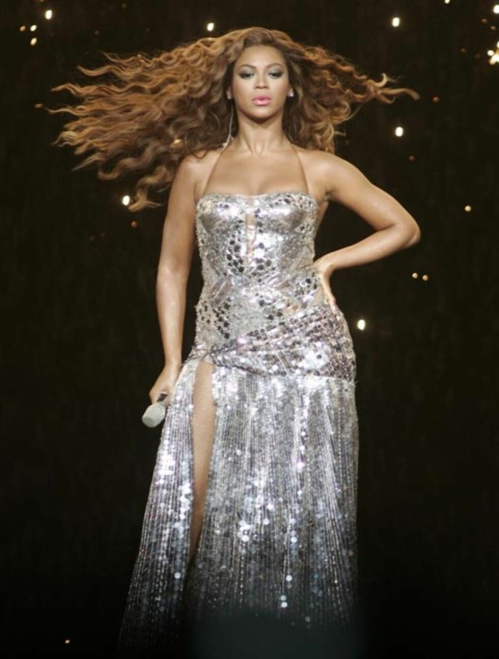 <strong>2007:</strong> Beyoncé opptrer på Bank Atlantic Center i Florida. Foto: Stella Pictures