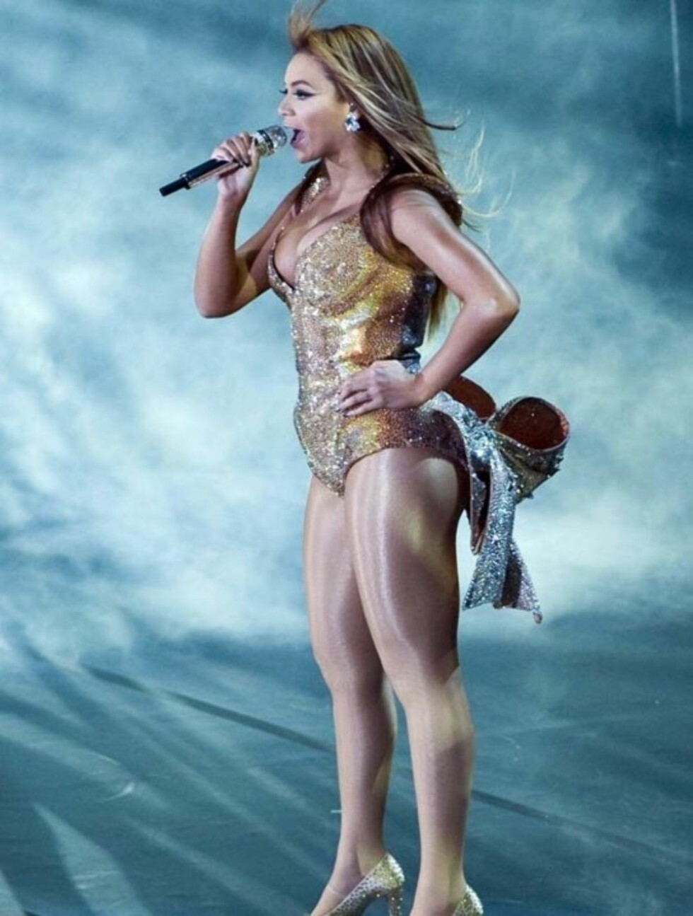 <strong>BEIJING,CHINA - OCTOBER 23, 2009:</strong>(CHINA OUT)US. singer Beyonce Knowles performs at her concert, Beijing, October 23, 2009.  Photo by CNImaging Code: 4049 COPYRIGHT STELLA PICTURES Foto: Stella Pictures