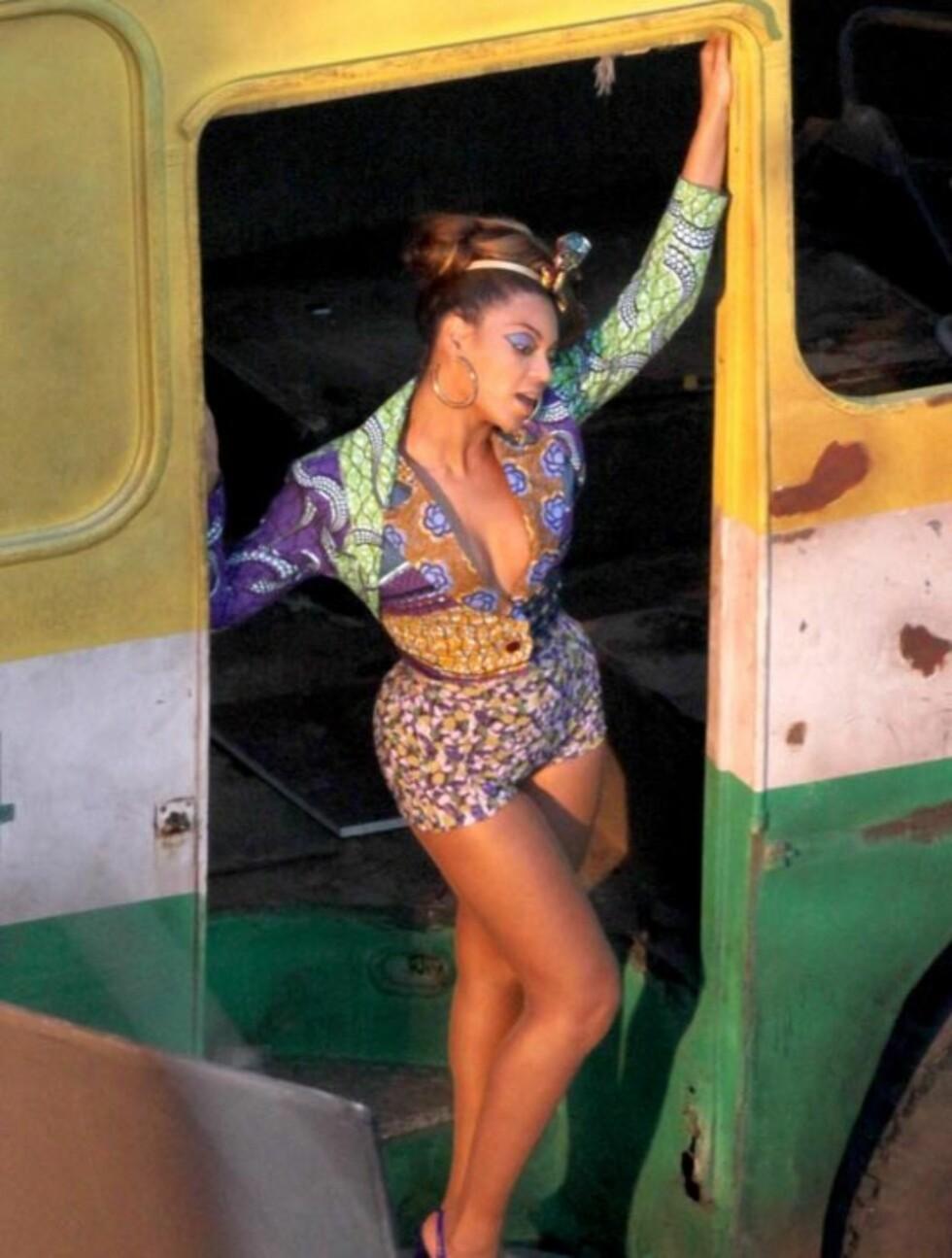 <strong>2010:</strong> Beyoncé spiller inn musikkviedo i Rio de Janeiro. Foto: Stella Pictures