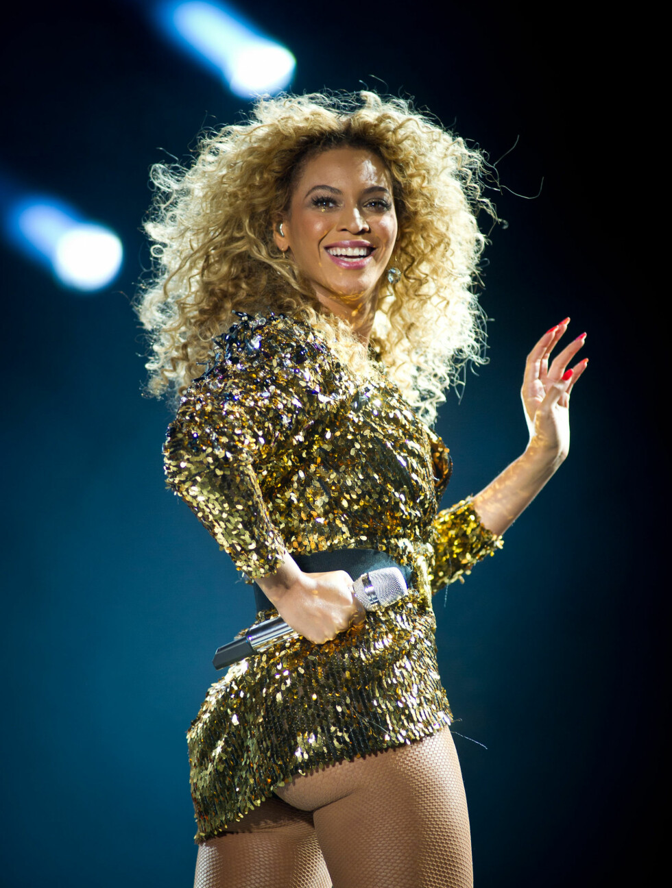 <strong>2011:</strong> Beyoncé opptrer på Glastonbury-festivalen i England i juni.  Foto: All Over Press