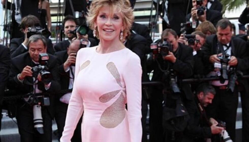 <strong>LEGENDE:</strong> Jane Fonda er en bejublet skuespillerinne, aktivist og forfatter. På 80-tallet slo hun seg opp som fitnessguru. Foto: Stella  Pictures