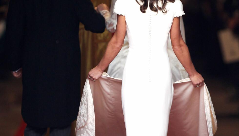 <strong>SPALTEPLASS:</strong> Pippa Middletons bakdel fikk nok av spalteplass i kjendismediene. Foto: All Over Press