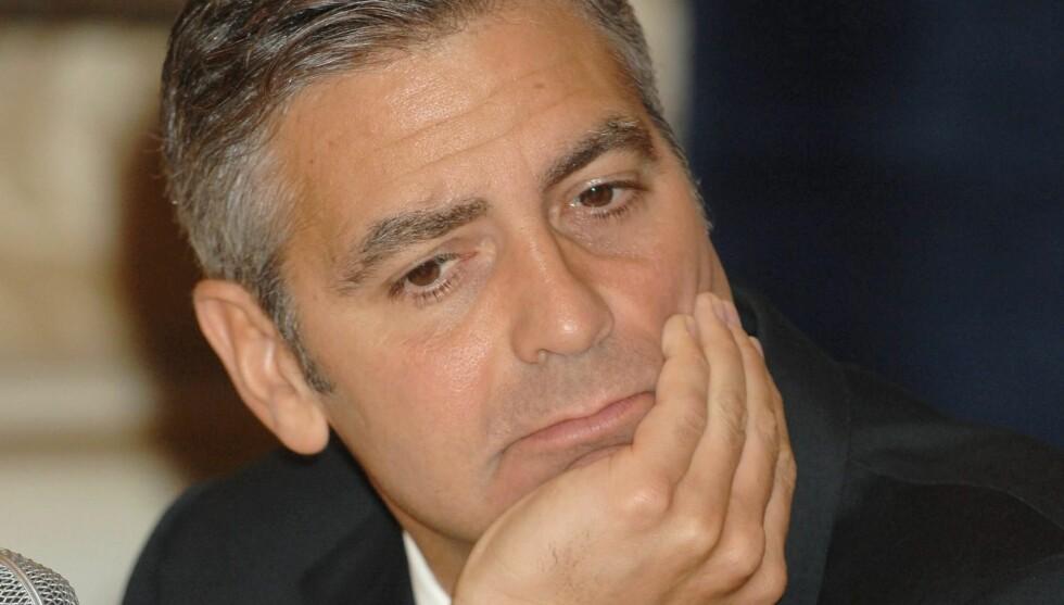 ANGRER: Selv om George Clooney har hatt stor suksess med mange filmer, finnes det dem han angrer på.  Foto: STELLA PICTURES