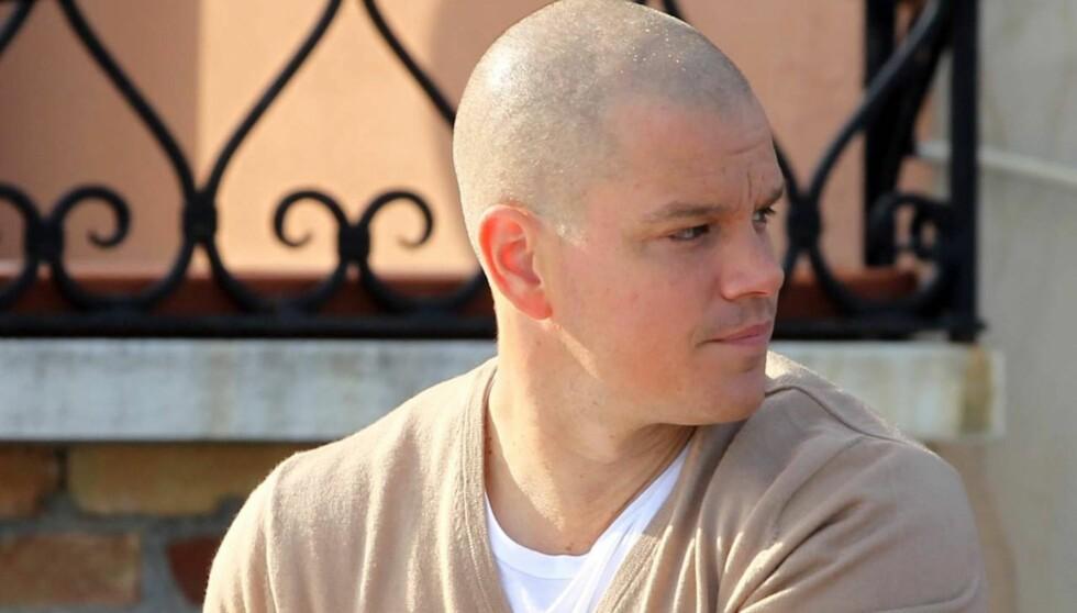 KJENNER DU HAM IGJEN?: Matt Damon ser annerledes ut enn slik vi er vant til å se ham. Foto: All Over Press