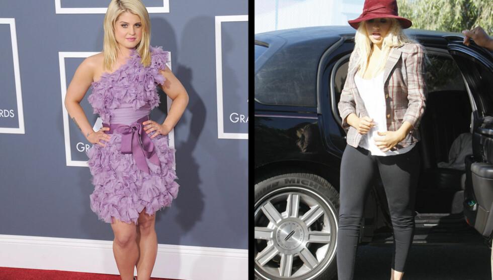 <strong>FYRER LØS:</strong> Kelly Osbourne lader kanonen og fyrer løs mot Christina Aguilera. Foto: Stella Pictures