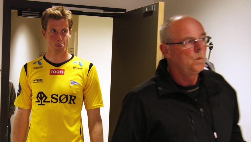 TETT FORHOLD: Start-spilleren Jesper Mathisen sier til VG at han fortsatt er sterkt preget av sin berømte far Svein Mathisens bortgang tidligere i år. Foto: Scanpix