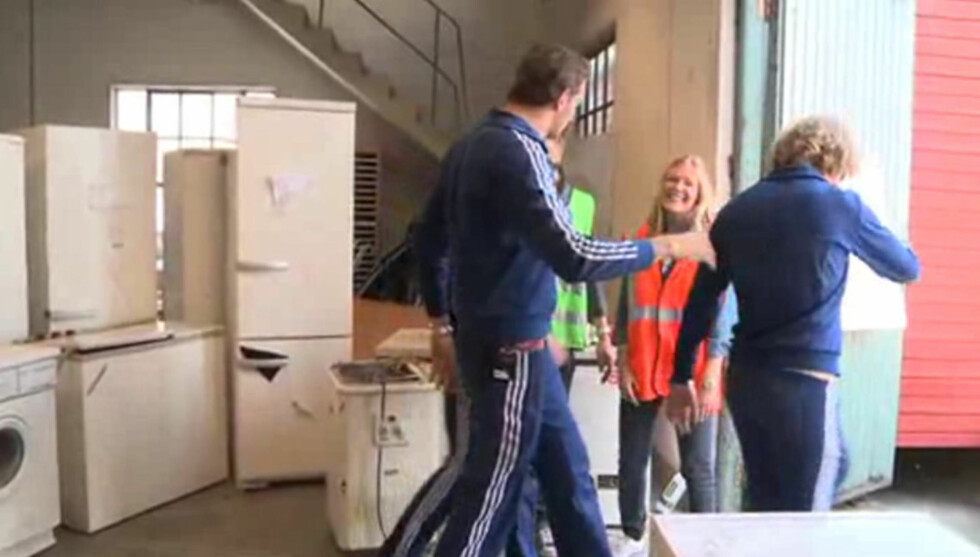 <strong>FERDIGE INSTRUMENTER:</strong> Ingeniørene fra Hafslund er ferdige med den elekriske instrumentparken Hurra Torpedo behøver til Øyafestivalen. Foto: Fra videoen