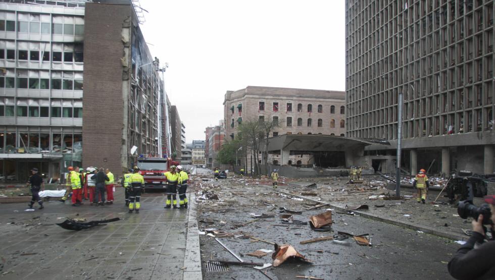 UVIRKELIG: Norges hovedstad Oslo ble fredag ettermiddag rammet av en voldsom eksplosjon, som har kostet flere personer livet. Regjeringskvartalet i Oslo sentrum ligner en krigssone, og AUFs sommerleir på Utøya er rammet av en tragisk skyteepisode, som s Foto: STELLA PICTURES