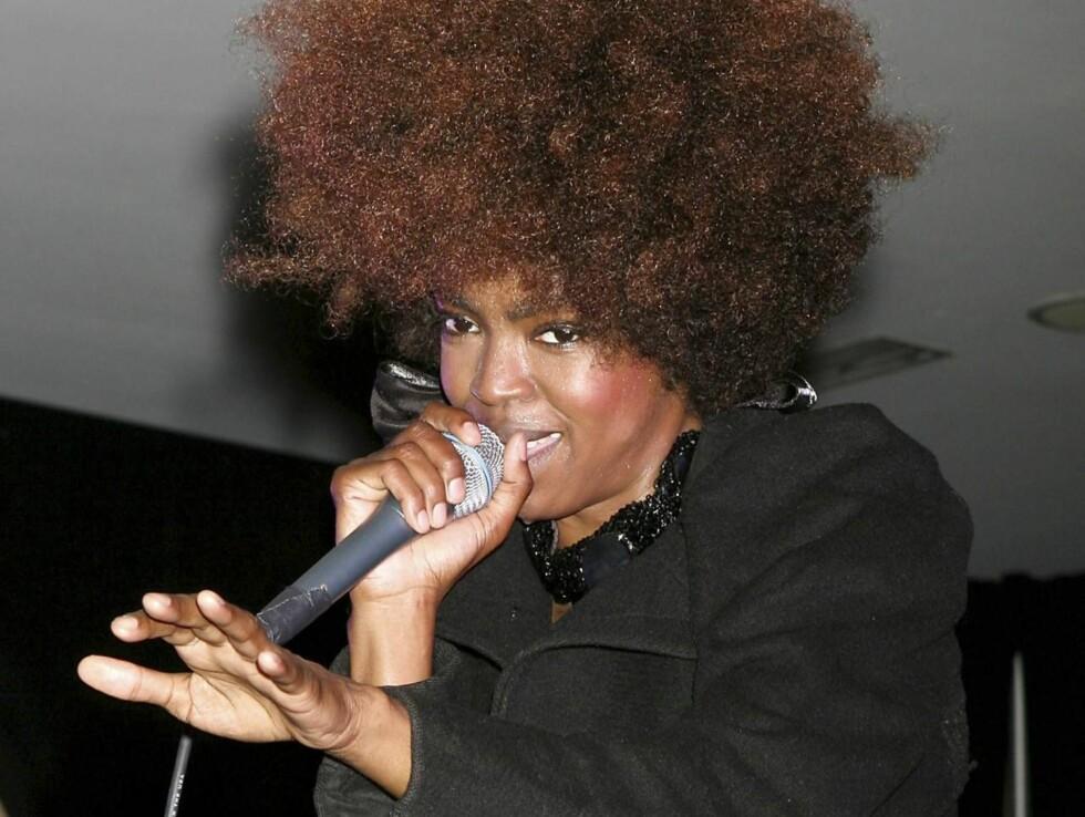 BABYLYKKE: «Killing me Softly»-sangerinnen Lauryn Hill er blitt mamma for sjette gang, men det er fremdeles uvisst om Rohan Marley er faren til barnet. Foto: AP/Scanpix