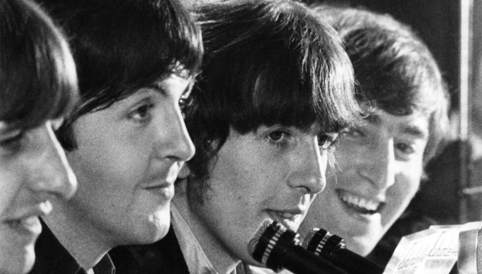 FANS: Beatlesfans verden over kan nå kanskje endelig få muligheten til å se gutta sammen på scenen igjen. Det kan til og med hende vi får se en Lennon og en Harrison på scenen også, men denne gang er det sønnene til John Lennon og George Harrisons Foto: Stella Pictures