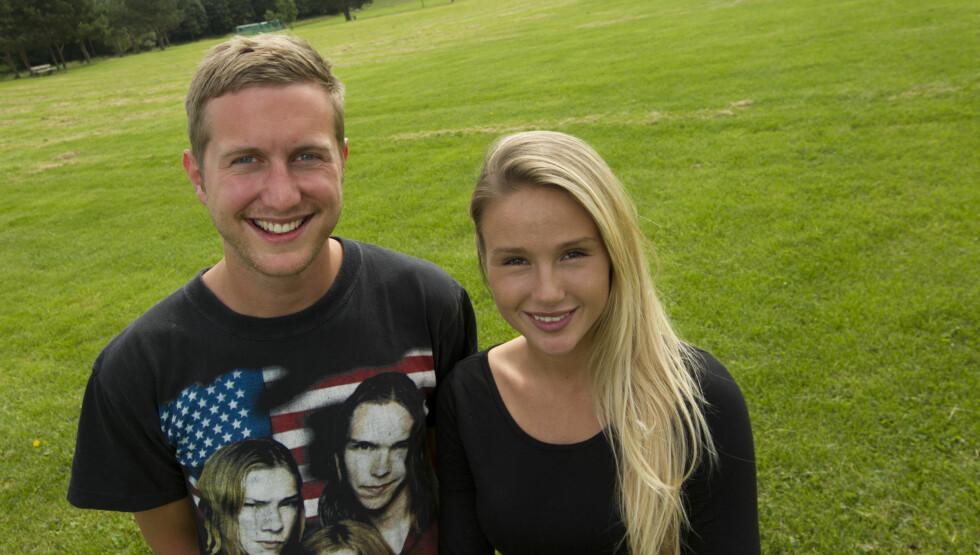 LEDER TV-SHOW: Mathias Skarpaas og Rachel Nordtømme er i disse dager å se  i TV 2s Norway Cup-program fra Ekebergsletta. Foto: TV 2 Sporten / Norway Cup