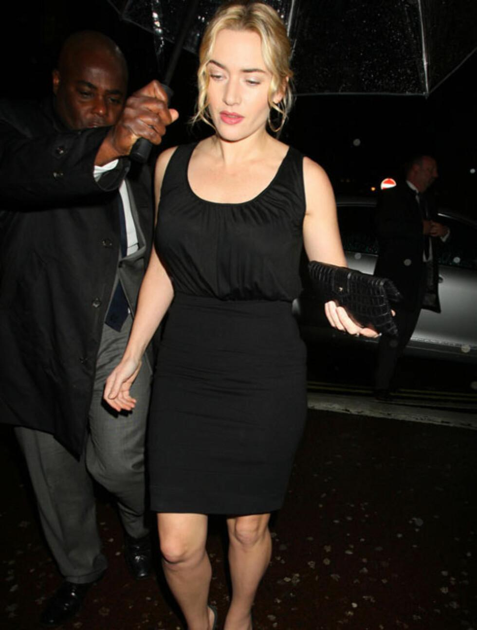 LEKKER: Skuespiller Kate Winslet ankommer BAFTA-hovedkvarteret i  Piccadilly, London i vinter. Foto: All Over Press