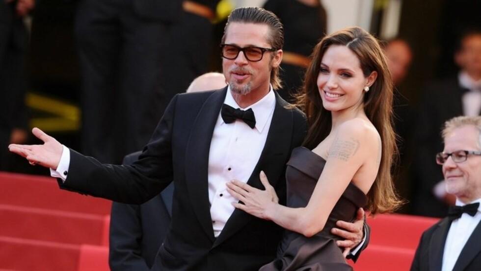 <strong>HINTER TIL BRYLLUP:</strong> I mai fortalte Brad Pitt at parets barn ønsker at foreldrene skal gifte seg. Foto: Stella Pictures
