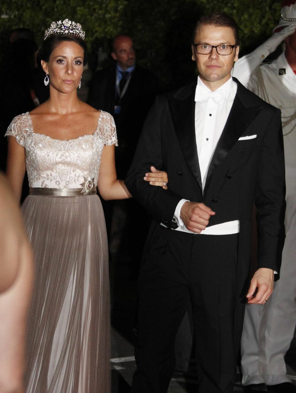 DANMARK-SVERIGE: Prinsesse Marie fra Danmark med prins Daniel fra Sverige.  Foto: Scanpix