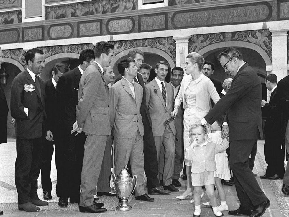 <strong>PÅ TUR MED ARVEPRINSEN:</strong> Grace Kelly elsket å besøke steder med sin sønn Albert. Lørdag skal han selv gifte seg i Monaco. Foto: Stella Pictures