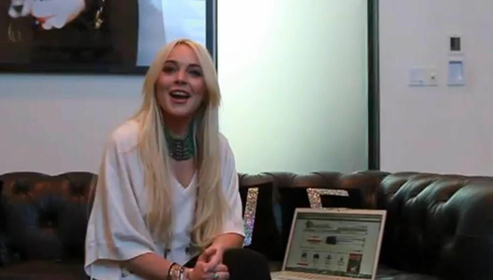 GODE PENGER: Lindsay Lohan, som sitter i husarrest etter et smykketyveri begått tidligere i år, har tjent gode penger på hjemmelaget reklamefilm. Foto: All Over Press