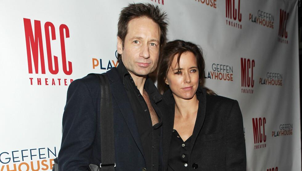 SEPARERT: Det profilerte skuespillerparet David Duchovny og Tea Leoni har separert seg, men fortsatt er det ikke snakk om skilsmisse.  Foto: All Over Press