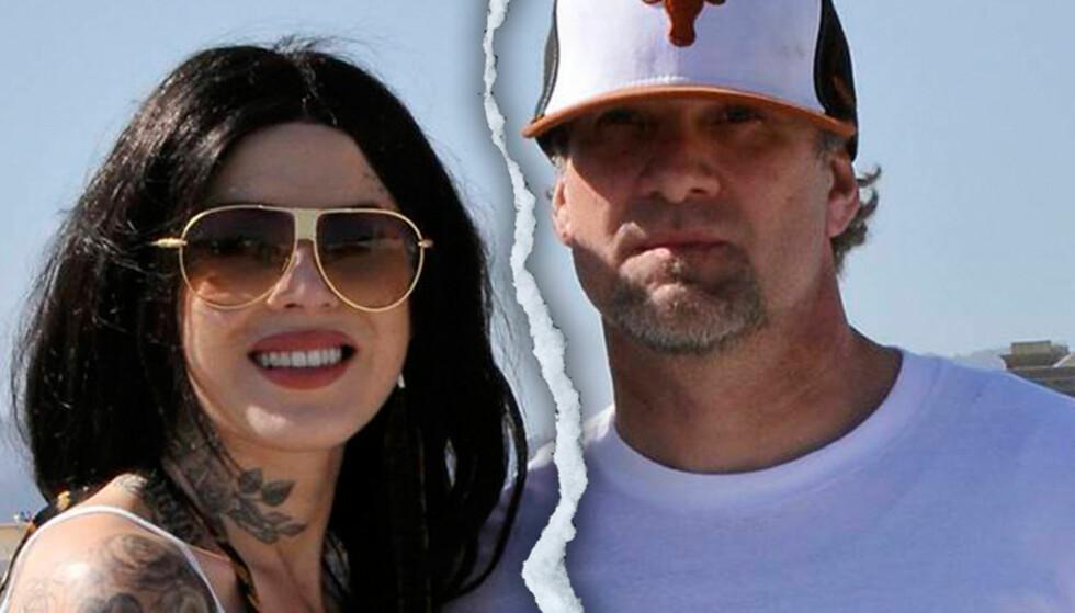 <strong>GÅR HVER SIN VEI:</strong> Bladet Life & Style hevder at TV-stjernene Kat von D og Jesse James skal ha avbrutt sin forlovelse. Foto: All Over