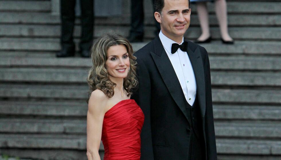 <strong>IKKE INVITERT:</strong> Kronprinsparet Letizia og Felipe var ikke tilstede i fyrstens bryllup. Foto: Stella Pictures