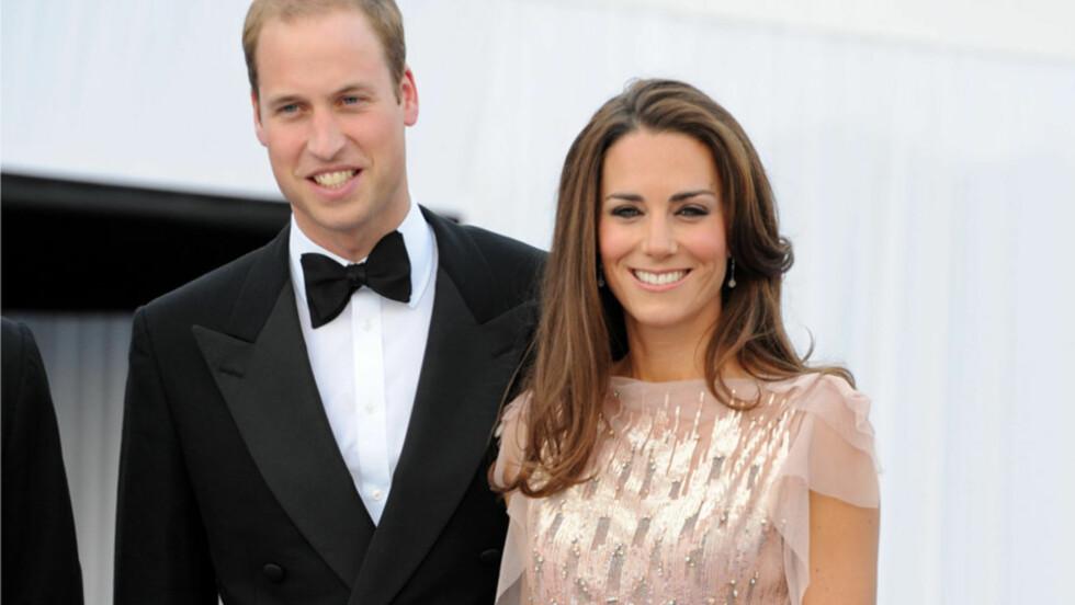 <strong>HOLLYWOOD-AKTIG:</strong> Prins William og hans hertuginne Catherine utstrålte ekte Hollywood-glamour på en gallamiddag i London torsdag.  Foto: Stella  Pictures