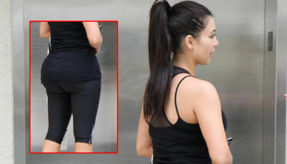 FORMFULL: Det har aldri vært tvil om at Kim Kardashian er en formfull kvinne. Hun har innrømmet at hun har tatt botox, men rumpa har hun aldri fikset på. Foto: All Over Press
