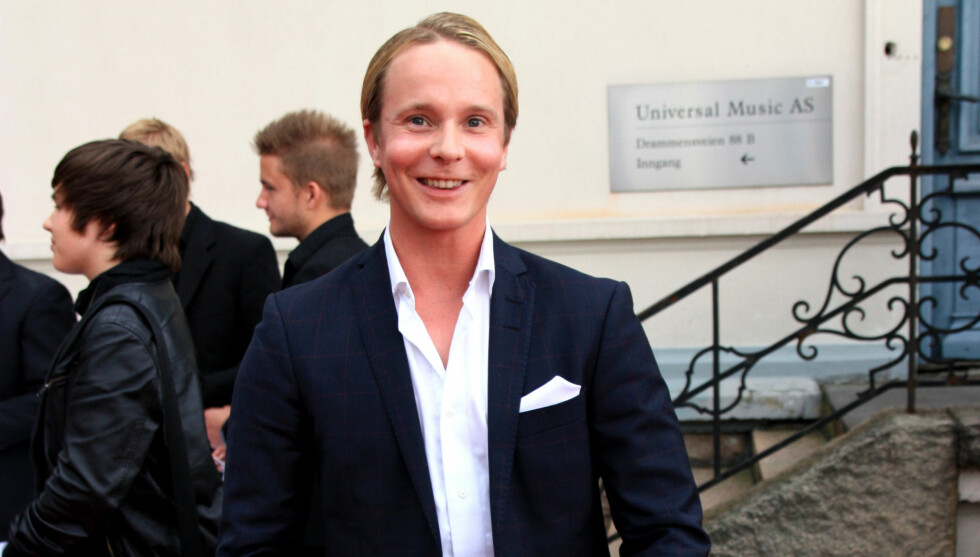 <strong>FIKK SIN ILDDÅP:</strong> Petter Pilgaard deltok på Universal Musics sommerfest for aller første gang, og hadde ingen planer om å lage skandale. Foto: Anders Myhren/Seher.no