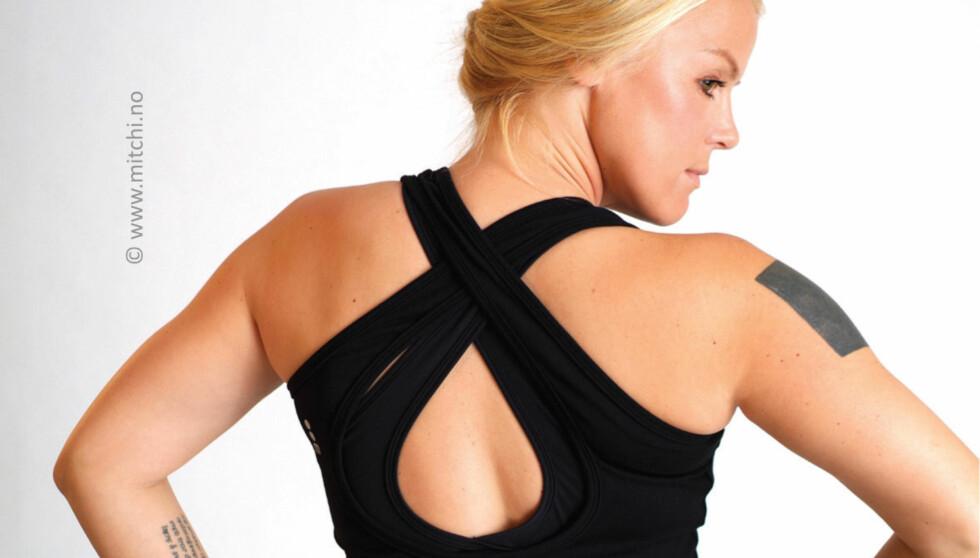 BLIR MODELL: En tydelig slankere Johanna Grønneberg blir denne høsten å se som modell for treningsklærne til Mitchi. Foto: Mitchi
