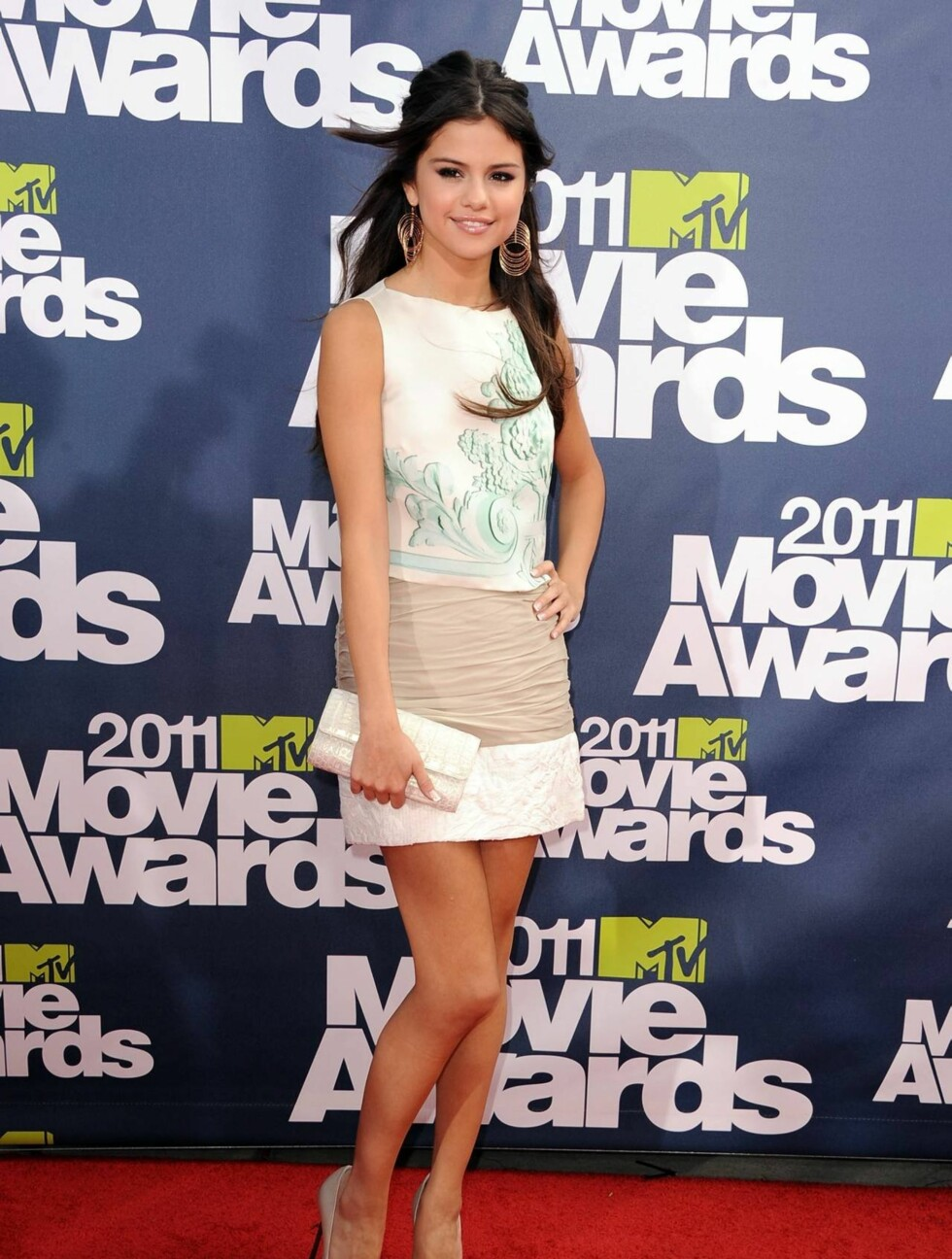 <strong>UNIVERSAL CITY, CA - JUNE 05:</strong>  Actress Selena Gomez arrives at the 2011 MTV Movie Awards at Universal Studios Gibson Amphitheatre on June 5, 2011 in Universal City, California.  (Photo by Steve Granitz/WireImage) Foto: All Over Press